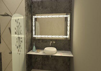 Огледало Авиа топла светлина