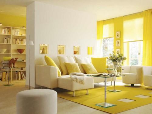 жълто в дома