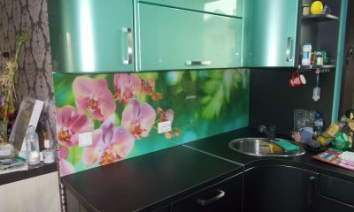 принт стъкло орхидеи