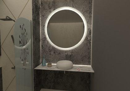 Огледало Скайлър неутрална светлина