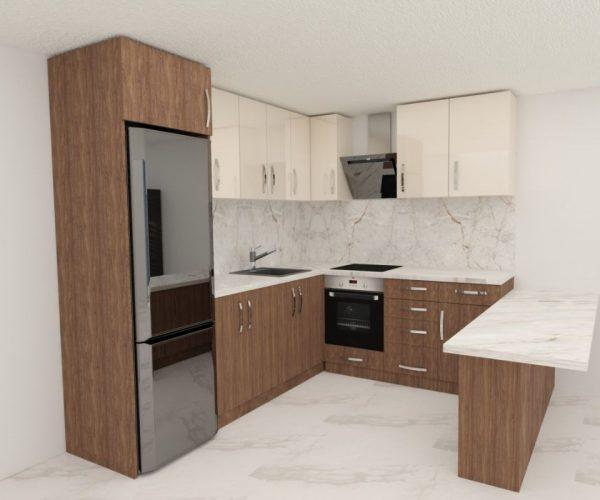 Кухня мрамор 3