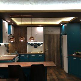кухня уреди синя бяла